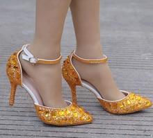 Wanita Tinggi Heels Sandal Pernikahan Sepatu Berlian Biru Kristal Sepatu  Wanita Pernikahan Foto Studio Pernikahan Gaun Sepatu XY. 844f381da480