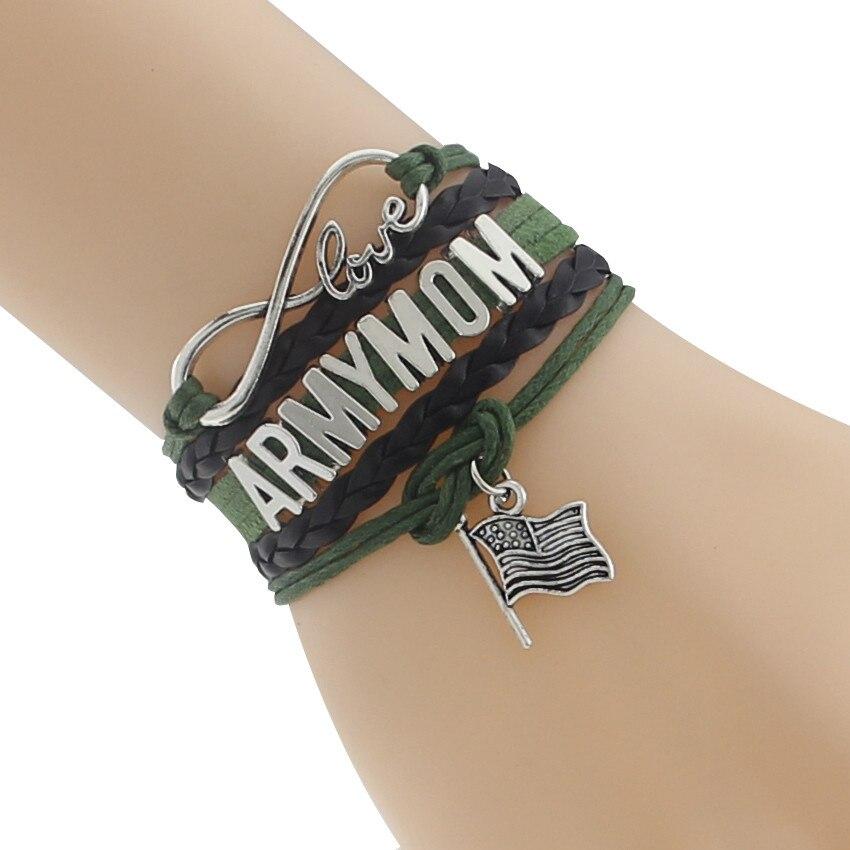 Drop Shipping Infinity/ Love New Type Bracelet Custom Department Defense Team Gift