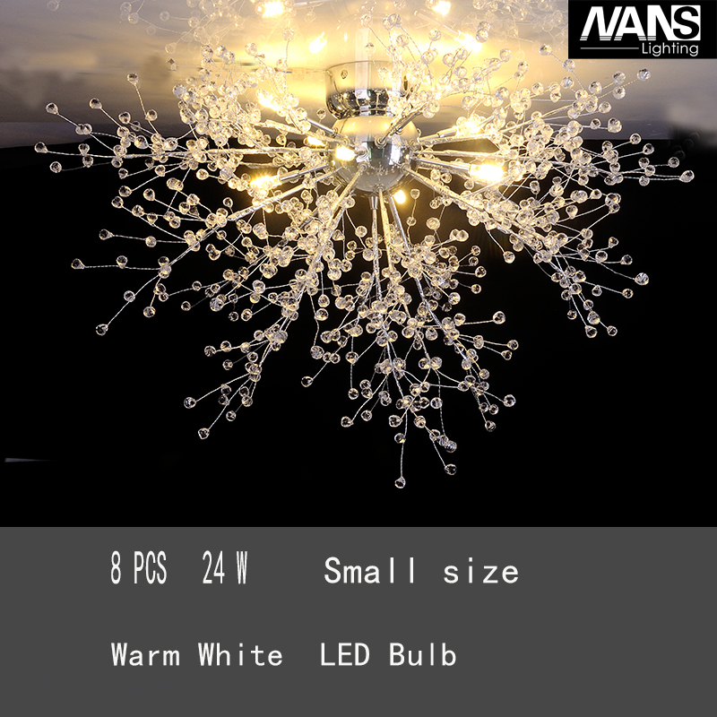 NANS Modern Imitated Crystal Acrly LED G4 Celling Light 8 Arms Celling Fixture för matsal vardagsrum heminredning