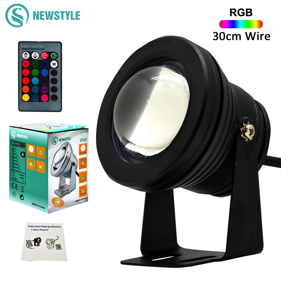 Lovely Wholesale Price 10w Cob Led Underwater Fountain Light Flash Waterproof Light Under Water Led Pond Lights For Boats Ip68 Ac12v Lights & Lighting