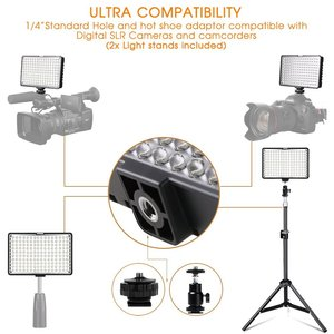 Image 3 - Capsaver TL 160S 4 Sets LED Video Licht Fotografische Beleuchtung 5600K CRI85 Studio Licht für YouTube Foto Schießen LED Lampe panel