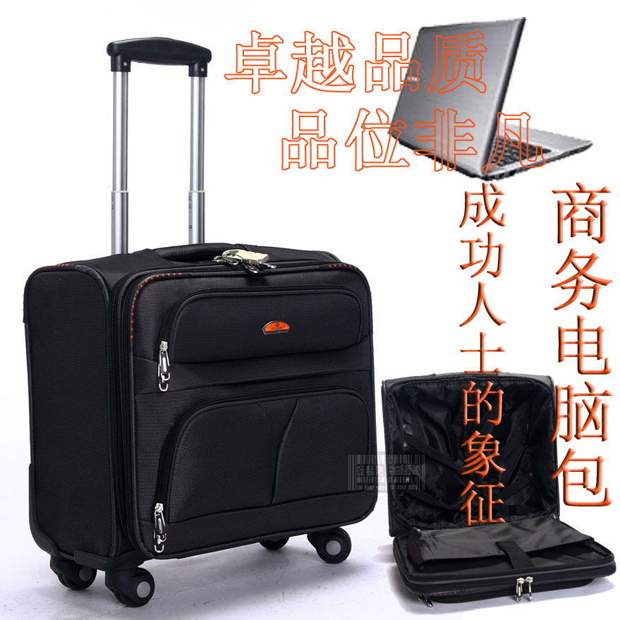 New Arrival Universal Wheels 18 Computer Case Oxford Fabric Luggage Travel Bag Trolley In Suitcases From Bags On Aliexpress