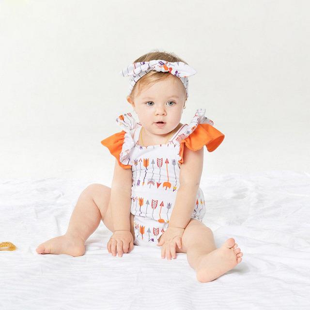 Princesa del Mameluco del Bebé Establece Manga de Soplo del Algodón Lindo Bebé Recién Nacido Conjunto Con Diadema Bebe Ropa Fiesta de Cumpleaños Para 3-24 M