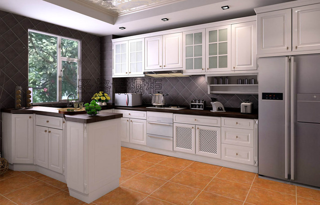 Membrane Molded Door Modular Kitchen Cabinet Customize Cabinet