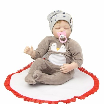 22inch sleeping adorable Reborn Baby Doll Toys With Pacifier Princess Dolls Lovely Birthday Gift Girls Brinquedos hot sale doll