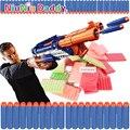 100 unids pistola de bala suave pistola Nerf N-strike Elite Rampage Retaliator Series Blasters recambio Clip dardos pistola de juguete eléctrico de juguete bala