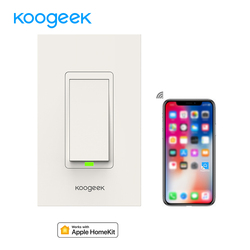 Koogeek Smart Light Switch Works for Apple HomeKit Support Siri Control Single Pole Wall Switch on 2.4GHz Network [Only for IOS]