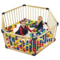 Цельные деревянные ворота детские Манеж экспорт без запаха здоровье Детские забор Детские игрушечный забор 7 шт. + 1 ворота Детские забор, ог