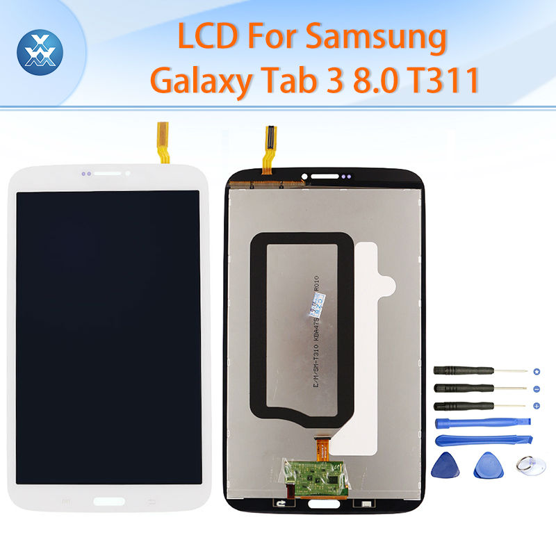 LCD For Samsung Galaxy Tab 3 T311 T315 LCD display touch screen digitizer assembly replacement white 8.0 inch pantalla tools