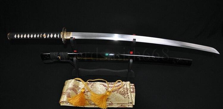 JAPANESE SAMURAI SWORD KATANA DAMASCUS FOLDED STEEL TRADITIONAL - Տնային դեկոր - Լուսանկար 2