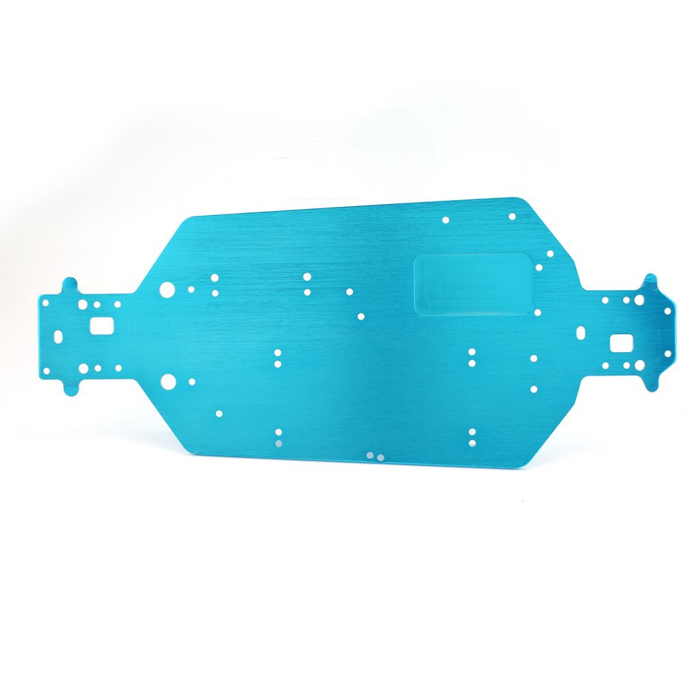 <font><b>04001</b></font> 03601 Aluminum Alloy Metal Chassis 1/10 Upgrade Parts For Buggy Monster Bigfoot Truck HSP 94107 94170 94118 94111 image