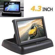 4.3 pulgadas HD Plegable Opinión Posterior Del Coche Marcha Atrás del Monitor de Color LCD TFT de Pantalla para Camión Vehículo Cámara de Vista Trasera de Copia de seguridad