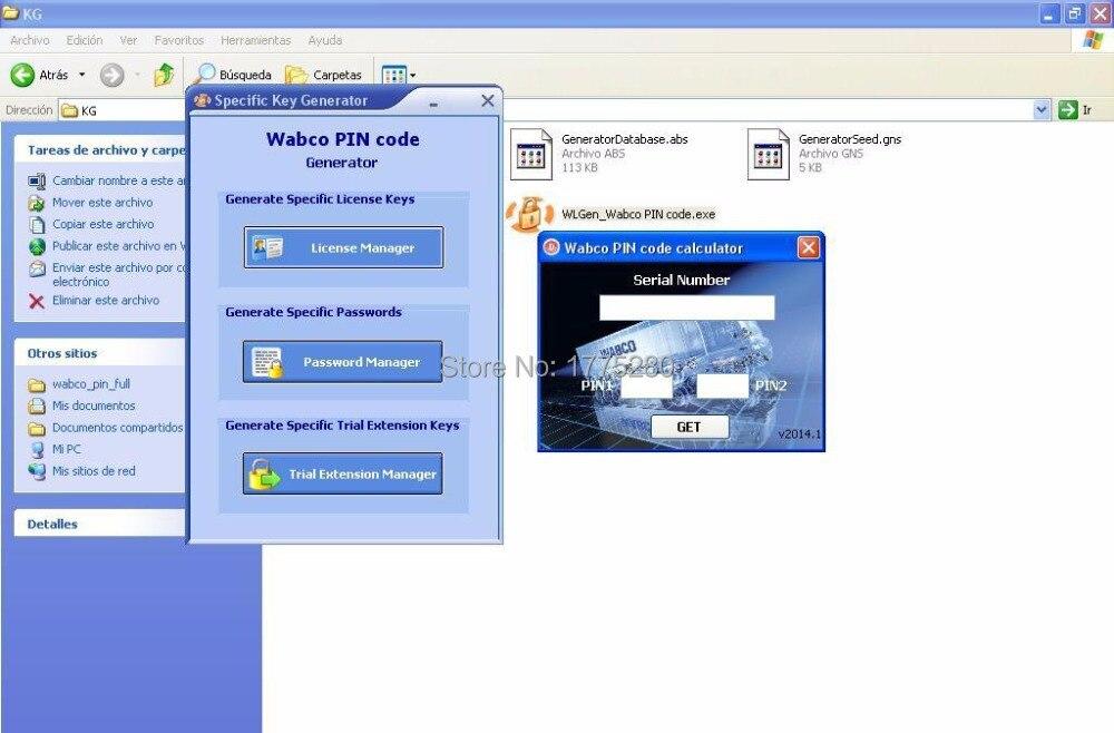 Программное обеспечение wabco диагностический [2014] калькулятор кейген+ПИН / ПИН2