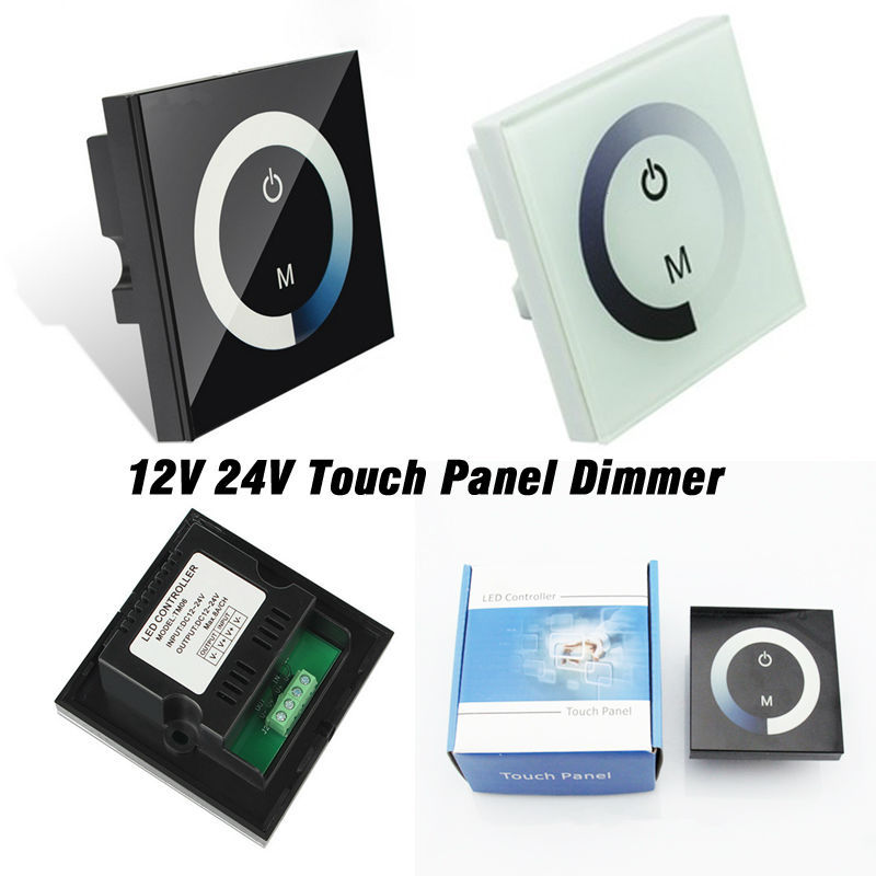 24V 12V Touch Panel Dimmer Switch DC12V-24V for LED Strip RGB LED Lights Bulbs Controller