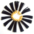 10Pc 88*11.5mm Black Suede Leather Jewelry Tassel For Key Chains/ Cellphone Earing Necklace Bracelet Jewelry Charms Gold Silver