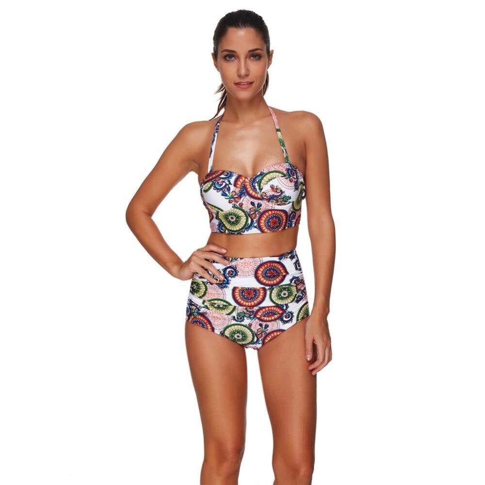 2018 Nuove Donne di Estate Solid Bikini set Costumi Da Bagno femminile in due pezzi costume da bagno A Vita alta Bikini Donne Costume Da Bagno biquini