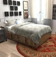 European Retro Ethnic Jacquard Mandala Round Mat Flower Nordic Printed Round Carpet For Livingroom Kids Room Large Area Rug