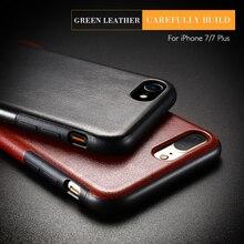 FLOVEME чехол Crazy Horse с узором для iPhone 6 7 6S 7 Plus для samsung Galaxy S8 плюс роскошный защитная крышка телефона Shell I7