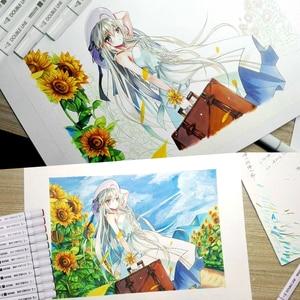 Image 5 - 12 24 48 60 farben Weichen Pinsel Skizze Marker Pen Permanent Alkohol tinte Auf Wasserbasis Art Marker Box Set Für Zeichnung manga Design Liefert