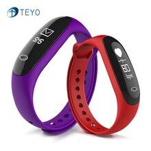 Teyo Smart Band E26 монитор сердечного ритма крови Давление фитнес-трекер Водонепроницаемый напоминание сна Pulsera inteligente Android IOS