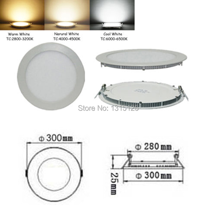 Dimmable Ulthra Thin 24w Led Panel Lights, Holiday round Recessed Ceiling Light for Home Living Room Illumination+free Shipping цена