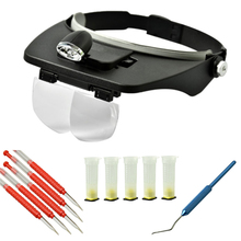 DLKKLB Beekeeping Grafting Tool Set Led Magnified Lens Wear+aluminium Handle Grafting Tool+plastic Grafting Tool Queen Cell Cup