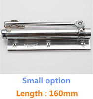 Small Option Casting Aluminum Automatic Mini Door Spring Closer Length 160mm
