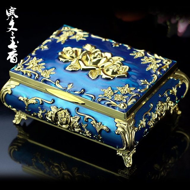 Russia Jewelry Box Retro European Princess Korean ring box high end