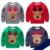 Moda de invierno niños niñas Sudadera Con Capucha de los niños patrón de ciervos de la Navidad Del Bebé de La historieta T-shirt tops ropa Con siesta suave regalo