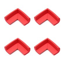 ABWE Best Sale  4pcs Child Baby Safety Desk Table Edge Cover Guard Corner Protector Cushion red