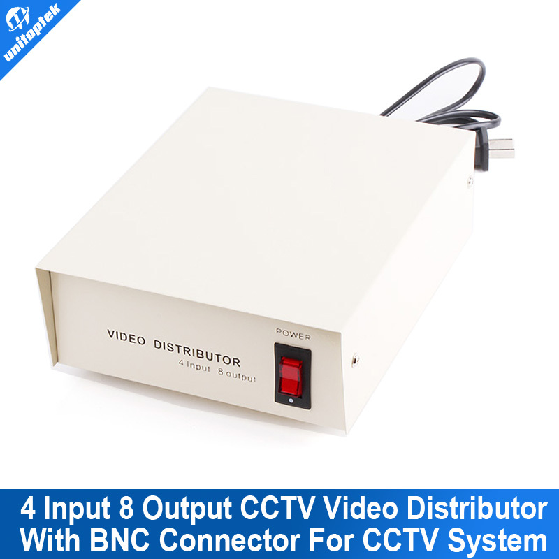 ФОТО 4 Input 8 Output CCTV Video Distributor Video Signal Distributor With BNC Connector