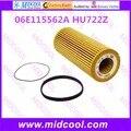 O envio gratuito de Alta qulality filtro de Óleo filtro De Combustível para 06E115562A HU722Z
