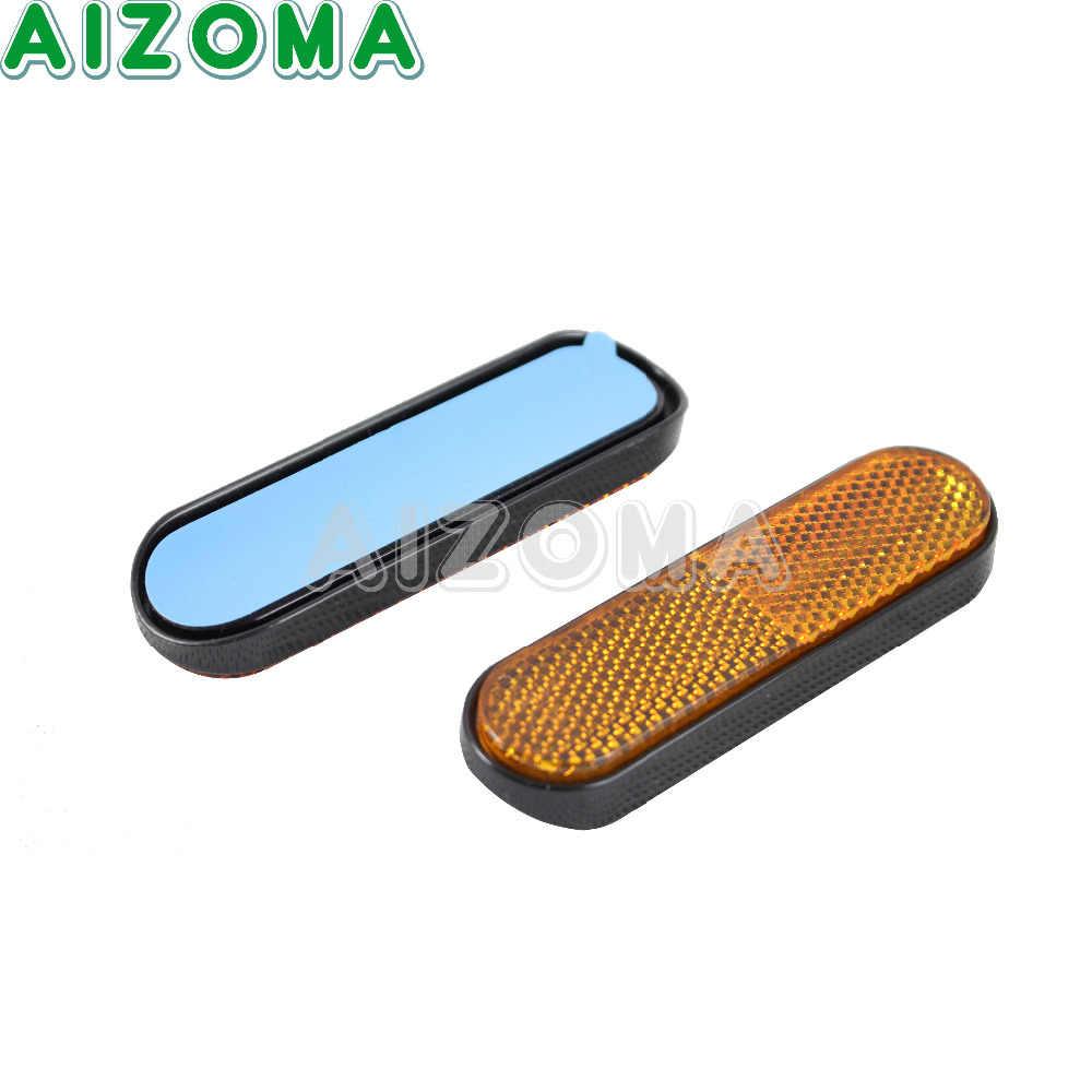 Motor Gele Reflecterende Sticker 96*24mm Voorvork Been Reflectoren Sticker 2 stuks Universalia Voor Motorfietsen ATV Fietsen dirt Bikes