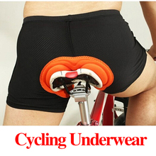 Фотография 2016 New Fashion Unisex Black Bicycle Cycling Comfortable Underwear Silicon Gel 3D Padded Bike Short Pants Cycling Shorts S#S9
