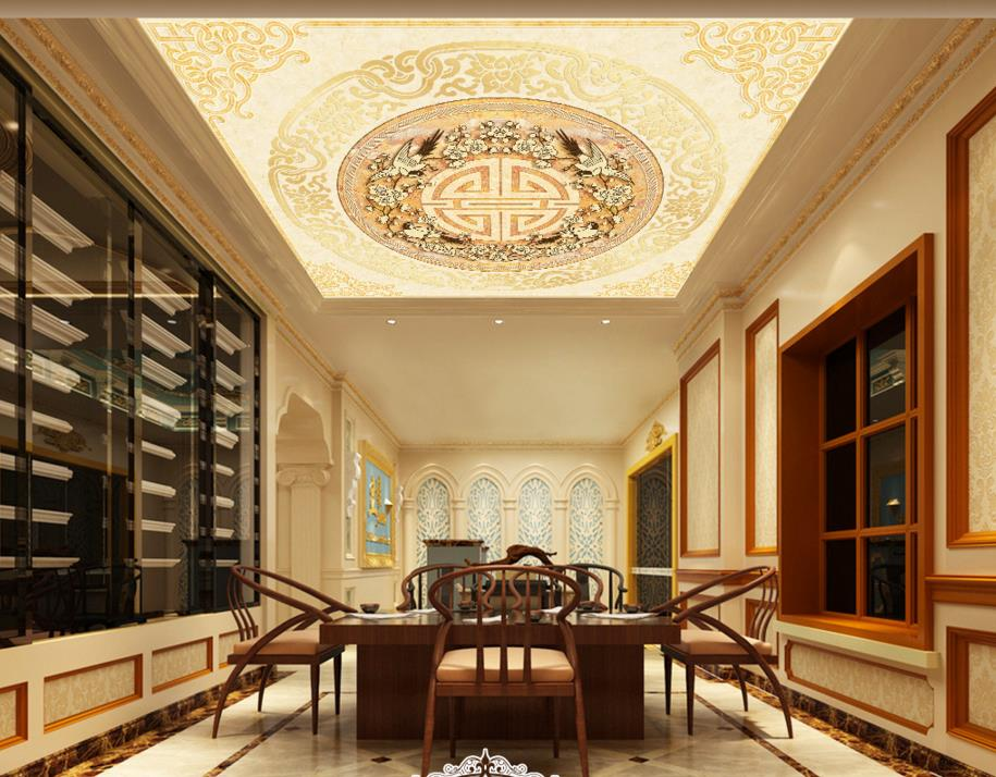 Vinyl Vloer Verven : Chinese klassieke vloer behang custom 3d vloer schilderen marmeren