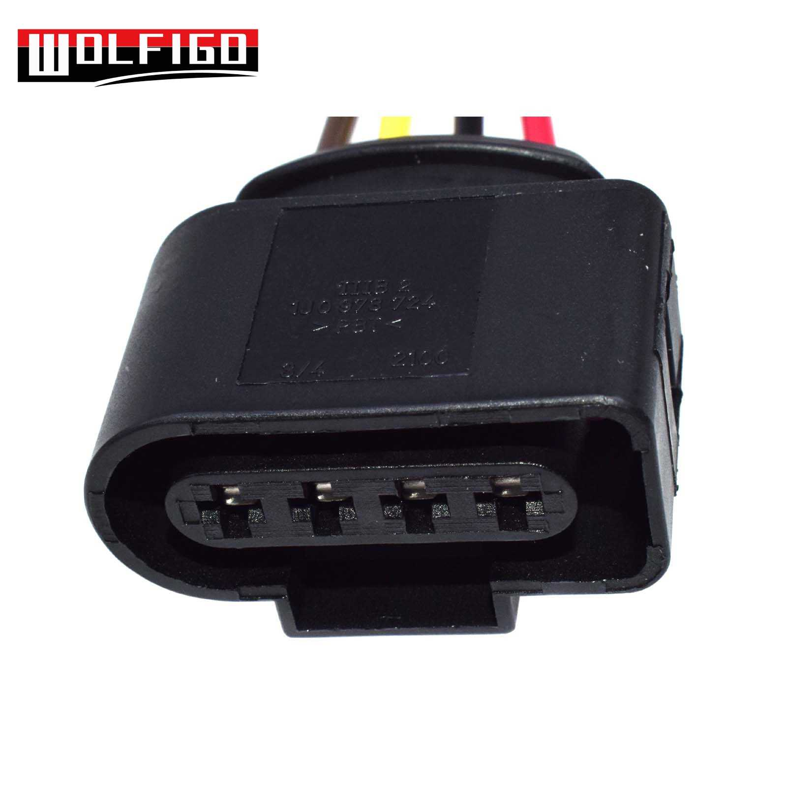 wolfigo new ignition coil connector repair kit harness plug wiring for audi vw skoda [ 1600 x 1600 Pixel ]