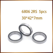 bb30 free shipping 5pcs 6806-2RS 6806 61806 2RS 6806RS 61806RS deep groving ball bearing 30x42x7mm for BB30 free shipping stainless steel s5200 2rs double row angular contact ball bearing s5200 2rs s3200 2rs 10x30x14 3mm
