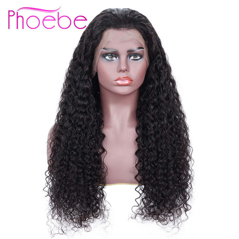 Phoebe 13x4 Kinky Curly Human Hair Wigs With Baby Hair Bleached Knots Brazilian Remy Lace Front