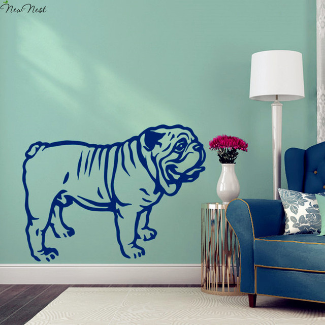 Finest English Bulldog Wall Decal Vinyl Sticker Home Decor, Bulldog  XD34