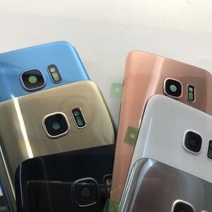 Image 3 - Schermo anteriore Obiettivo di Vetro per Samsung Galaxy S7 Bordo G935 G935F SM G935F G935FD Posteriore Della Copertura di Batteria del Portello Posteriore Dellalloggiamento con adesivo