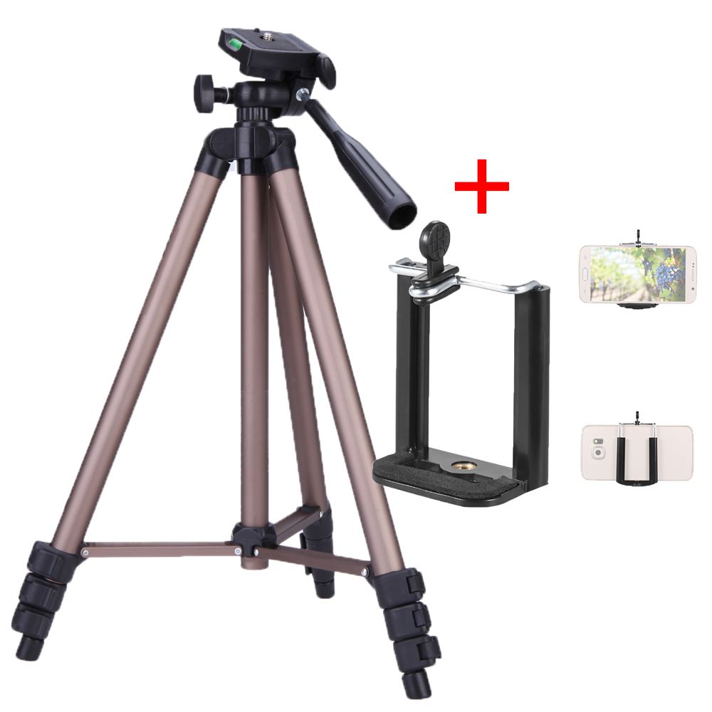 Andoer Protable Camera Tripod Stand with Rocker Arm for Canon Nikon Sony DSLR Camera Camcorder tripod stand Load 2.5kg for phone(China)