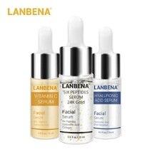 30pcs LANBENA Six Peptides 24K Gold Vitamin C Serum Hyaluronic Acid Ser