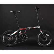 JAVA FIT 18 D Aluminium Adult Folding Bike 20 406 Wheel 18 Speed Mechanical Disc Brake