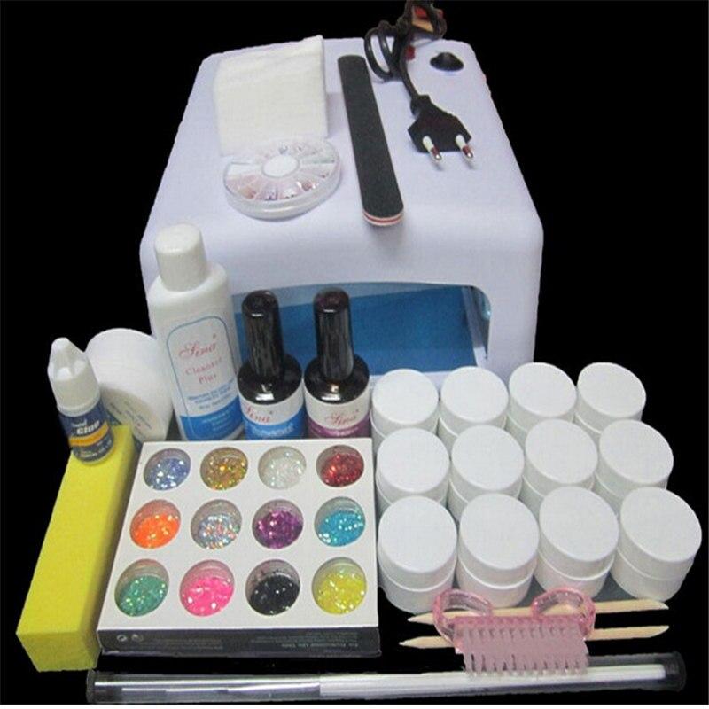 24 Colors Nail Art Pro DIY Full Set Soak Off Uv Gel Polish Manicure Set Base Top Set Nail Gel Nail Tools nail art salon supplies kit tool uv gel nail polish diy makeup full set manicure set free shipping