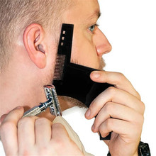 Hot 1PCS High Quality Beard Shaping Styling Template PLUS Beard Comb All In One Tool ABS