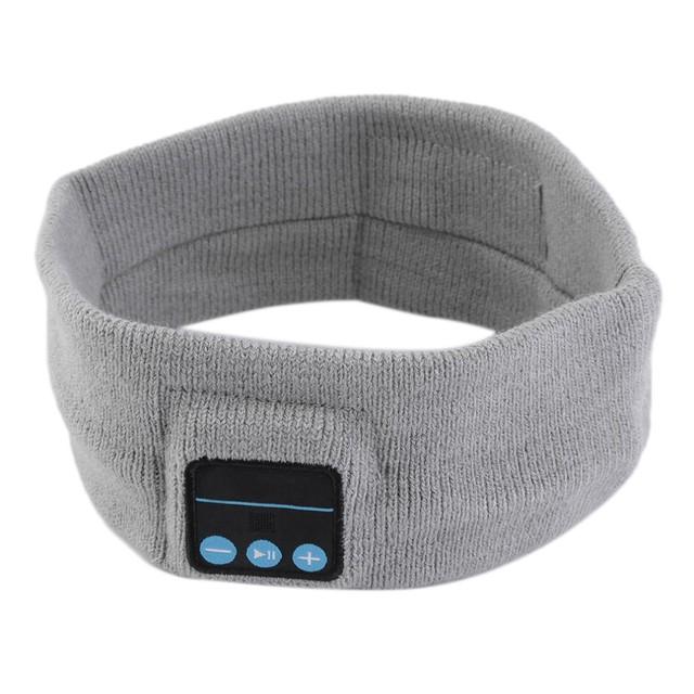 20PCS/Lot Wireless Bluetooth Music Headband V3.0 Magic Hat Knitted Sports Anti-sweat Headphones Earphones Wireless Mic Free DHL