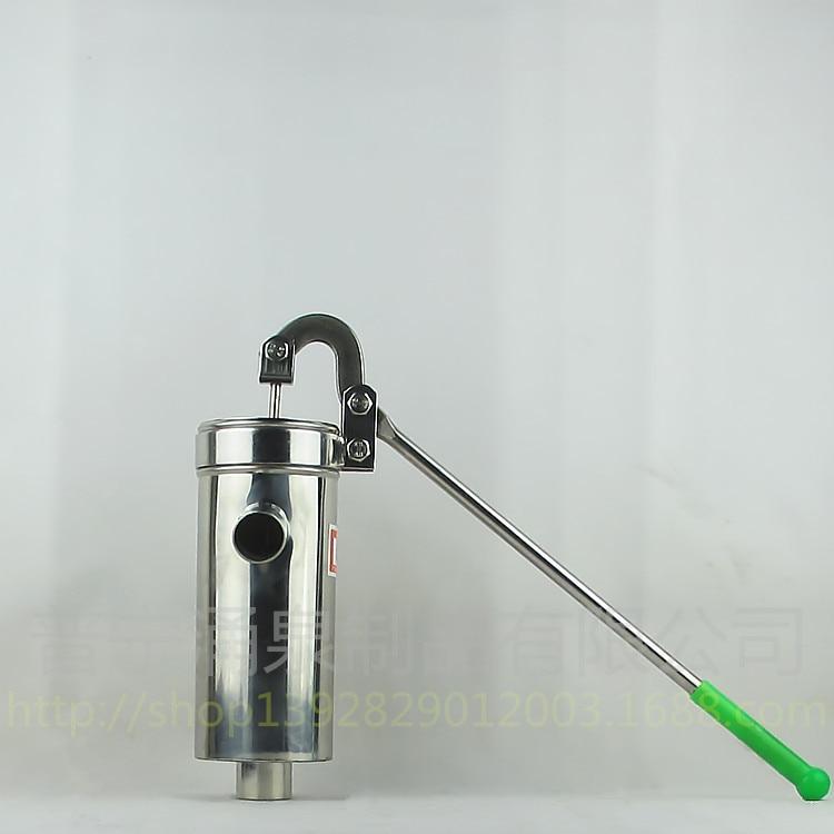 Pompe à huile de puits de distributeur d'eau de main de pompe d'acier inoxydable de tube droit
