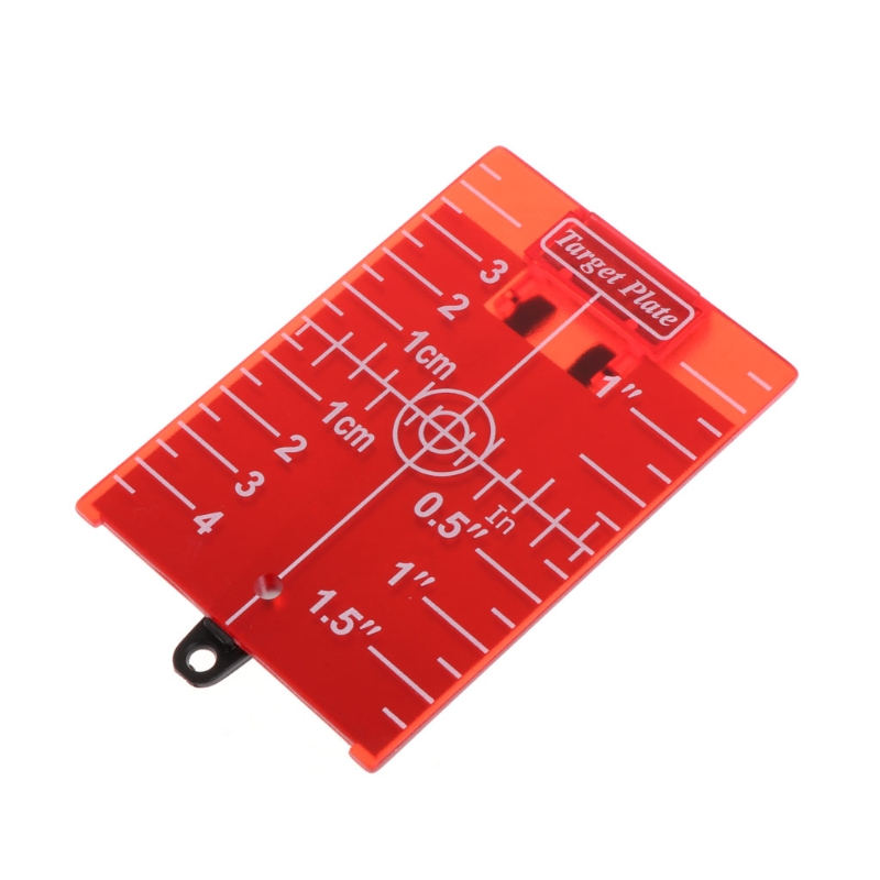 1Pc Magnetic Target Plate for Rotary Cross Line Laser Level Distance Measurer