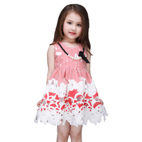 Embroidery Children Brand Kids Clothes Top Quality Sale Baby Girl Dress Summer Style Dresses Casual Sleeveless