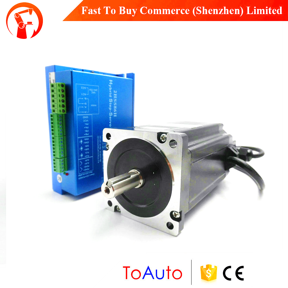 2 Phase NEMA34 closed loop Stepper System 86mm 8.5NM 5A stepper motor drive kit 86J18118EC-1000+2HSS86H for cnc cutting machine стульчик для кормления selby 252 зеленый 0005602 05 page 2